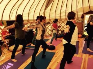 Yoga in the yurt 1